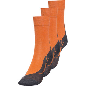axant 73 Merino Socks 3er Pack Børn, orange